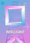 포스터, 5G, 4차산업혁명 (산업혁명), 초현대적 (컨셉), 기하학 (수학), 기하학모양, 인터넷, 사다리꼴 (이차원모양)