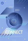 포스터, 5G, 4차산업혁명 (산업혁명), 초현대적 (컨셉), 기하학 (수학), 기하학모양, 시작버튼 (버튼), 연결 (컨셉)