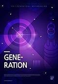 포스터, 5G, 4차산업혁명 (산업혁명), 초현대적 (컨셉), 기하학 (수학), 기하학모양, 시대, 기술