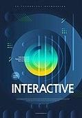 포스터, 5G, 4차산업혁명 (산업혁명), 초현대적 (컨셉), 기하학 (수학), 기하학모양, 기술