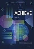 포스터, 5G, 4차산업혁명 (산업혁명), 초현대적 (컨셉), 기하학 (수학), 기하학모양, 기술, 원형 (이차원모양), 직사각형 (이차원모양)