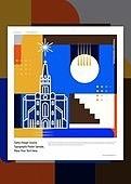 패턴, 랜드마크, 건물외관 (건설물), 기하학모양 (모양), 모양 (묘사), 선 (모양), 명동성당, 성당