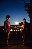 스파클러, 밤 (시간대), 감성 (감정), 커플 (인간관계), 사랑 (컨셉), 한국인
