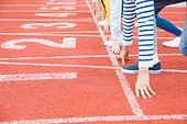 스포츠트랙 (스포츠장소), 경쟁 (컨셉), 러닝트랙, 출발선 (스포츠용품)
