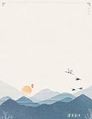일러스트, 새해 (홀리데이), 한국명절 (한국문화), 근하신년, 팝업, 프레임, 설날 (한국명절), 풍경 (컨셉), 산, 연하장 (축하카드)