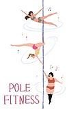 라이프스타일, 여성 (성별), 다이어트, 운동 (스포츠), 건강관리 (주제), 폴댄스, 취미, 음표
