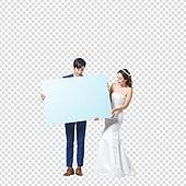 파워포인트 (이미지), PNG, 누끼, 한국인, 결혼 (사건), 축하 (컨셉), 축하이벤트 (사건), 남성, 여성, 신랑, 신부 (결혼식역할), 웨딩드레스, 파랑 (색상)