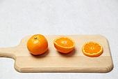 귤 (감귤류),과일,음식재료,프레시,도마,주방용품,과일만,단면,음식