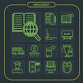 아이콘, 아이콘세트 (아이콘), 모바일아이콘, 라인아이콘, 모바일어플리케이션 (인터넷), 웹아이콘, 교육 (주제), 학교건물 (교육시설), 학원