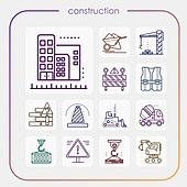 아이콘, 아이콘세트 (아이콘), 모바일아이콘, 라인아이콘, 모바일어플리케이션 (인터넷), 웹아이콘, 비즈니스, 건설 (산업), 건축, 부동산, 설계도 (계획), 건축가, 건설장비, 건설현장 (인조공간)