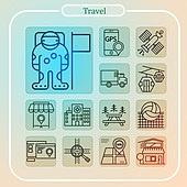 여행 웹 아이콘