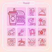 모바일 여행 아이콘