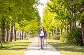 한국인, 여성, 하이킹 (아웃도어), 여유로운주말 (레저활동), 혼자여행 (여행), 산책길 (보행로), 산림욕, 걷기