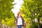 한국인, 여성, 하이킹 (아웃도어), 여유로운주말 (레저활동), 혼자여행 (여행), 산책길 (보행로), 산림욕, 걷기, 바람 (자연현상)