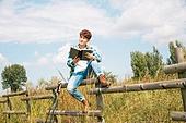 한국인, 여행, 혼자여행 (여행), 여유로운주말 (레저활동), 휴식, 책, 남성