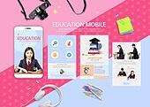 웹템플릿, 모바일템플릿, 스마트폰, User interface (Topic), UI KIT, 레이아웃, 탑앵글 (시점), 교복, 십대 (인간의나이), 여학생, 고등학생