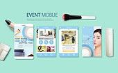 웹템플릿, 모바일템플릿, 스마트폰, User interface (Topic), UI KIT, 레이아웃, 탑앵글 (시점), 뷰티, 화장품 (몸단장제품), 뷰티 (아름다움), 여성, 쇼핑