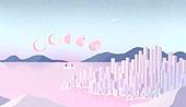 백그라운드 (주제), 풍경 (컨셉), 상상력 (컨셉), 환상 (컨셉), 동화, 달 (하늘), 하늘, 초현실