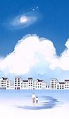 백그라운드 (주제), 풍경 (컨셉), 상상력 (컨셉), 환상 (컨셉), 동화, 행성, 구름, 하늘, 초현실