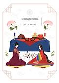 부부, 결혼, 신혼부부 (부부), 결혼식, 청첩장, 전통혼례, 한복, 사랑 (컨셉)