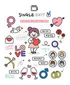 캐릭터 (컨셉), 라인아트 (일러스트기법), 라이프스타일, 버킷리스트, 성취 (성공), 커플, 사랑 (컨셉), 하트