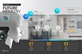 템플릿 (유저인터페이스), 브로슈어, 4차산업혁명, 첨단기술 (기술), 기술 (과학과기술), 로봇, 인공지능, 홈오토메이션 (기술), 사물인터넷
