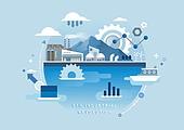 비즈니스, 신기술, 4차산업혁명 (산업혁명), 기술, 발전 (컨셉), 화물운송 (운수), 태엽