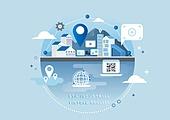 비즈니스, 신기술, 4차산업혁명 (산업혁명), 기술, 발전 (컨셉), Virtual Reality Simulator (Computer Equipment), 지피에스 (운항장비), QR코드 (코딩)