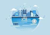 비즈니스, 신기술, 4차산업혁명 (산업혁명), 기술, 발전 (컨셉), 와이파이, 커뮤니케이션 (주제), 연결 (컨셉)