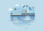 비즈니스, 신기술, 4차산업혁명 (산업혁명), 기술, 발전 (컨셉), 위성 (우주여행교통수단), 사물인터넷