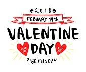 캘리그래피 (문자), 손글씨, 상업이벤트 (사건), 발렌타인데이 (홀리데이), 발렌타인데이, 커플, 하트, 라벨