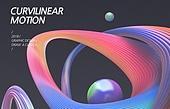 백그라운드, 그래픽이미지 (Computer Graphics), 합성 (Computer Graphics), 곡선, 컬러, 움직이는활동, 모션 (컨셉), 선 (모양)