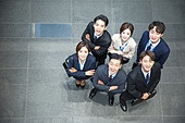 한국인, 화이트칼라 (전문직), 탑앵글, 밝은표정, 팀워크 (협력), 협력 (컨셉)