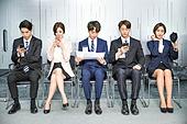 한국인, 구직 (실업), 취업면접, 채용 (고용문제), 기다림, 대기실 (공공건물), 일렬 (배열)