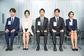 한국인, 구직 (실업), 취업면접, 채용 (고용문제), 기다림, 대기실 (공공건물), 일렬 (배열), 긴장감