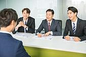 한국인, 인터뷰 (사건), 면접관, 채용 (고용문제), 구직 (실업), 비즈니스, 질문하는 (대화), 응시 (감각사용), 미소, 만족