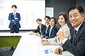 한국인, 비즈니스, 회의실, 화이트칼라 (전문직), 비즈니스미팅, 프로젝트, 프리젠테이션 (연설), 설명, 비즈니스맨, 여성, 미소, 책임자 (전문직)
