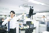 남성, 화이트칼라 (전문직), 화, 스트레스, 정장, 옷, 던지기 (신체활동), 언짢음 (한계상황), 회사계층 (고용문제)