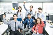 한국인, 비즈니스, 화이트칼라 (전문직), 사무실 (업무현장), 동료 (역할), 팀워크 (협력), 화이팅, 밝은표정, 미소