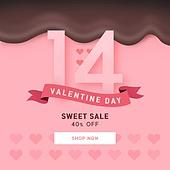 발렌타인데이, 초콜렛, 배너, 이벤트, 로맨틱