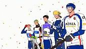 환호 (말하기), 콘페티, 겨울스포츠 (스포츠), 2018평창동계올림픽 (동계올림픽), 선수, 국가대표