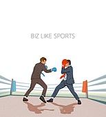 비즈니스, 스포츠, 비즈니스맨, 슈트 (옷), 권투, 권투링 (스포츠장소)