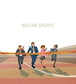 비즈니스, 스포츠, 비즈니스맨, 슈트 (옷), 육상경기 (스포츠), 단거리경주 (트랙경기), 비즈니스우먼