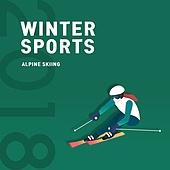 동계올림픽, 겨울스포츠, 2018, 올림픽, 배너