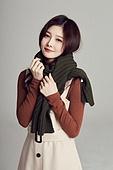 한국인, 여성, 스웨터 (상의), 겨울, 뷰티, 패션, 따뜻한옷 (옷), 목도리