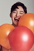 한국인, 남성, 풍선, 밝은표정, 즐거움, 얼굴 (사람머리), 행복