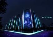 강렬한빛 (발광), 5G, 컴퓨터네트워크 (컴퓨터장비), 첨단기술 (기술), 비즈니스, 스마트시티, 인터넷 (기술)