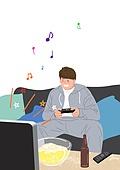 행복, 행복 (컨셉), 욜로 (컨셉), 즐거움 (컨셉), 라이프스타일, 음표, 비디오게임 (전기용품)