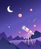 일러스트, 벡터파일 (일러스트), 우주 (자연현상), 과학, 여행, 환상 (컨셉), 동화, 우주여행교통수단 (교통수단)