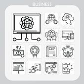 아이콘, 아이콘세트 (아이콘), 웹아이콘, 모바일어플리케이션 (인터넷), 픽토그램, 라인아이콘, 비즈니스, 블록체인, 비트코인, 뇌 (인체내부기관), 4차산업혁명 (산업혁명), 그래프, 화살표, 금융, 톱니바퀴 (기계부속품), 거래, 화폐 (금융아이템), 가상화폐